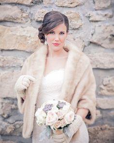 winter bridal beauty by team member Carla Winter Wedding Fur, Winter Bride, Christmas Wedding, Vintage Fur, Vintage Bridal, Winter Wedding Inspiration, Bridal And Formal, Bridal Beauty, Dream Wedding
