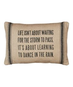 Take a look at this Tan 'Dance in the Rain' Pillow by Primitives by Kathy on #zulily today!