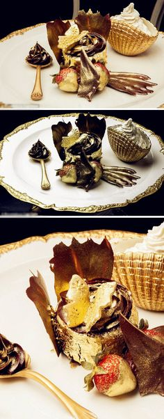 The world's most expensive cupcake from UAE - 'Golden Phoenix', made from 23k gold ~