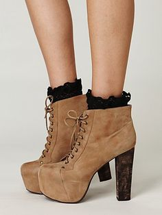 Ophelia Platform Boot at Free People. $158.00 love them with the lace socks :)