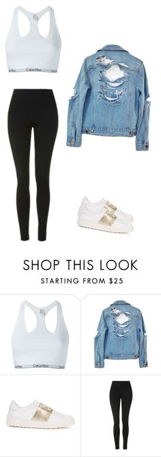 """""""Madison Beer style"""" by cheyyy13 ❤ liked on Polyvore featuring Calvin Klein Underwear, High Heels Suicide, Valentino and Topshop"""