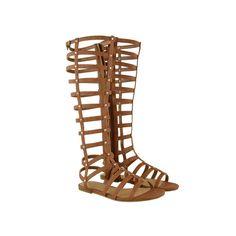 Knee High Gladiator Sandals - Roman