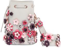 Kasper Flowers Leather Bag