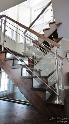 This is also true for that basement stairs. Stairs Tiles Design, Glass Stairs Design, Staircase Railing Design, Home Stairs Design, Tile Design, Basement Stairs, House Stairs, Luxury Interior Design, Interior Exterior