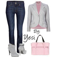 Algo basico para la oficina en invierno, en colores adecuados, gris y rosa seco. 70