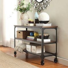 Merida Mixed Media Console Table Black - Homelegance : Target