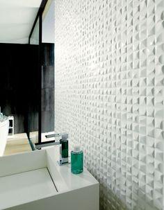Nice Textured Wall Tiles For A Guest Bathroom Porcelanosa Velasblanco