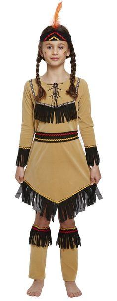 ChildrenS Girls Native American Indian Girls Costume Fancy Dress Outfit Fairy Fancy Dress, 1950s Fancy Dress, Childrens Fancy Dress, Boys Fancy Dress, Halloween Fancy Dress, Halloween Outfits, Fancy Dress Material, Roald Dahl Fancy Dress
