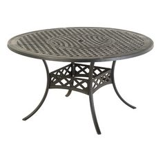 Covered patio...with 6 chairs? allen   roth�Whitley Place 54-in x 54-in Burnished Black Aluminum Round Patio Dining Table