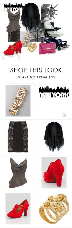 """""""Fashion Friday: Gotham Girl"""" by spashionista ❤ liked on Polyvore featuring Alexander McQueen, Alice by Temperley, Gucci, Vivienne Westwood, Chie Mihara, McQ by Alexander McQueen, gotham, major labels and new york city"""