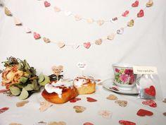 Bridal Shower Decoration Kit Vintage Blush Rose Pint Tea Party by HopeTillUrHeartHurts on etsy.com