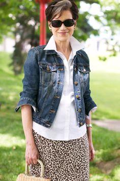 e51dd644592 Karen s Summer Style  Skirt and Denim Jacket