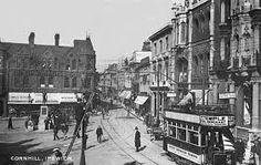 suffolk, ipswich, cornhill with vintage tram Ipswich England, Novels, Street View, Vintage, Vintage Comics, Fiction, Romance Novels