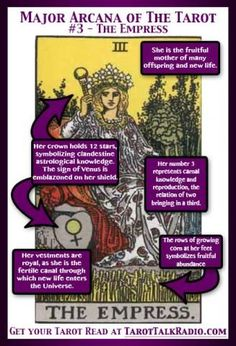Tarot card meanings and the empress :) The Empress | Tarot Talk Radio  #MediumMaria