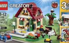 LEGO Creator 31038 Changing Seasons Building Kit Enjoy summer, autumn and winter with the Changing Seasons set! The Changing Seasons summer cottage Lego Creator Sets, The Creator, Light Brick, Bird Perch, Enjoy Summer, Small Birds, Lego City, Building Toys, Halloween Themes