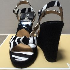 Authentic Michael Kors Wedges Platform Sandals Worm only once! So gorgeous and very comfortable! Perfect with jeans or summer dress! Original box included! Smoke and pet free home! Michael Kors Shoes Wedges