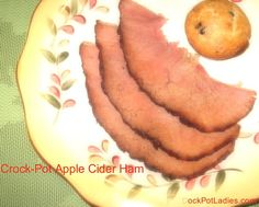 Crock-Pot Apple Cider Ham. 1 Bone In Ham (I would suggest not smoked)   Apple Cider, At least a half Gallon   3/4th Cup Brown Sugar   1 Cup Maple Syrup   1 Orange Quartered   1 Tablespoon Ground Cinnamon   1 Tablespoon Ground Nutmeg   2 Teaspoons Ground Ginger   1 Tablespoon Vanilla Extract