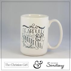 We have partnered with iSanctuary and are donating 20% of all shop sales made this month! Visit our website for mugs, totes, journals, scripture cards, and more and help be a part of helping other women discover that they are fearfully and wonderfully made! | www.thechristiangirl.net