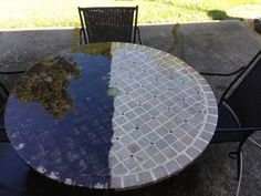 Pressure washing patio furniture is easy. Wow at those pressure cleaning results.
