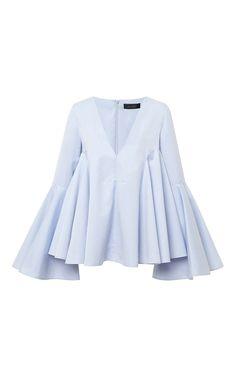 Lolita Circle Sleeve V-Neck Shirt by Ellery - Moda Operandi