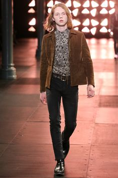 Saint Laurent Spring 2015 Menswear Fashion Show