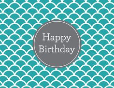 Scalloped Birthday by Kelp Designs on Postable.com