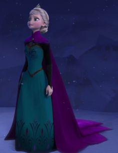 Elsa's coronation gown and mantle. Disney's Frozen (2013).