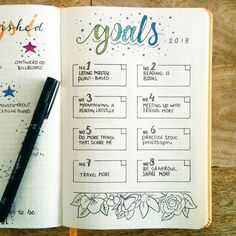 20 bullet journal layout ideas to help you become more productive and . - 20 Bullet Journal Layout Ideas That Will Help You Be More Productive and Organized – - Bullet Journal Goals Layout, Bullet Journal Planner, Bullet Journal Page, Organization Bullet Journal, Bullet Journal Monthly Spread, Self Care Bullet Journal, Bullet Journal Writing, Planner Organization, Journal Pages