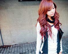 Reddish Brown Hair.