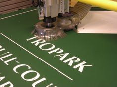 EnviroPoly sign being manufactured by Envirosigns