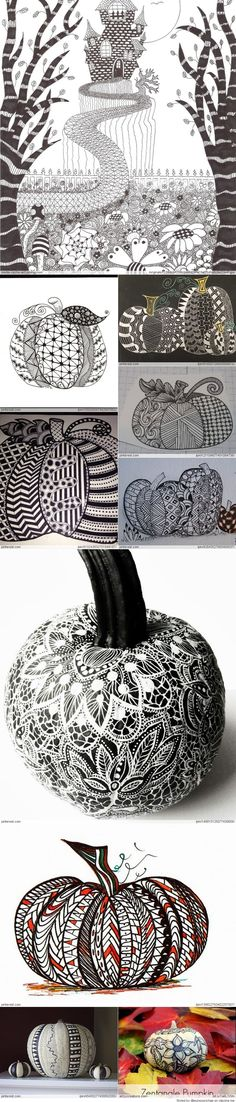 Zentangle Pumpkin Patterns