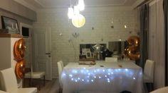 Birthday decoration: undertable lighting