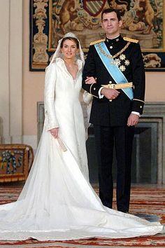 El vestido de novia de la Princesa Letizia  Mayo 2004