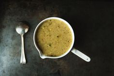 Broccoli, Lemon and Parmesan Soup(with veggie stock instead of chicken, obviously...)