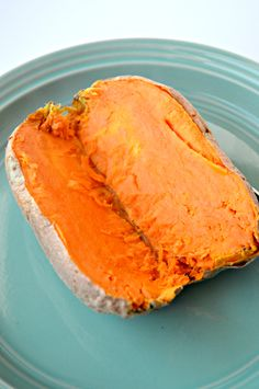 How to Bake a Sweet Potato in the Microwave // Sam Patterson x samjpat x Tried 8/28/15 and it works fabulously. I should've cooked the potato for another minute or so, but that's on me.