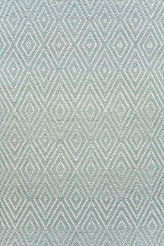 Diamond Light Blue/Ivory Indoor/Outdoor Rug   Dash & Albert Rug Company.  Living Room 10' x 14' rug