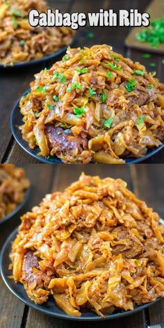 Cabbage with Ribs-Cabbage with Ribs This mouthwatering Cabbage with Ribs recipe is a life-changer! Delicious cabbage stewed, and then baked to perfection with tender and succulent ribs. Cabbage Recipes, Rib Recipes, Dinner Recipes, Cooking Recipes, Healthy Recipes, Salmon Recipes, Smoker Recipes, Potluck Recipes, Simple Recipes