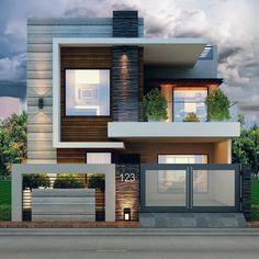 Best Modern House Design, Modern Exterior House Designs, Latest House Designs, Modern Tiny House, Minimalist House Design, Home Exterior Design, Modern Home Exteriors, Modern Brick House, Beautiful Modern Homes