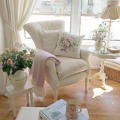 Casas Shabby Chic, Shabby Chic Interiors, Shabby Chic Bedrooms, Bedroom Vintage, Shabby Chic Homes, Trendy Bedroom, Shabby Chic Living Room Furniture, Home Living Room, Living Room Designs