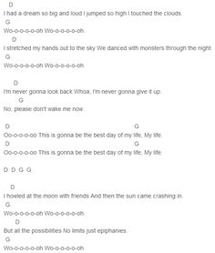 American Authors - Best Day Of My Life Chords