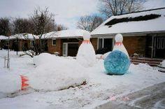 #SnowArt #Snowmeggedon #GoBowling