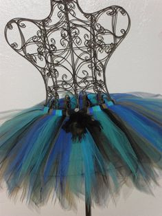 Adult/Teen blue peacock multi tutu skirt tutus, dresses, and Mardi Gras Costumes, Halloween Costumes, Halloween Ideas, Peacock Costume, Dress Form Mannequin, Diy Craft Projects, Crafts, Diy Clothes Videos, Running Costumes