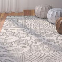Janelle Hand-Knotted Graphite Area Rug
