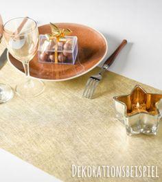 Goldener metallisch schimmernder Tischläufer für Ihren eleganten Sweet Table…