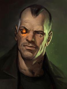 the art of Eric Belisle: The Techxorcist : a fresh new cyberpunk novels series