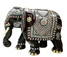 Suryafashion Rosewood Giant Inlay Elephant 60 X 90 Cms