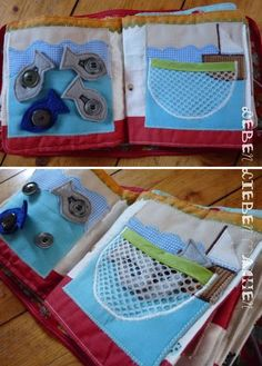 Fishing net with fish - but use velcro?
