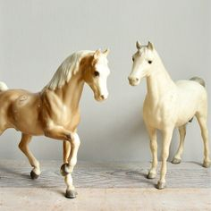 Vintage Breyer Horses. I played with my Breyer horses all the time! I still have them!