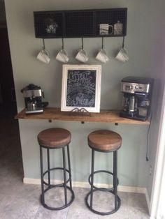 Luxury Wall Mounted Bar Stool
