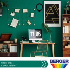 Green walls can create a relaxing atmosphere while still creating a chic look. #BegerCaribbean #GreenWalls #GreenInspiration